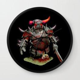 scarred pekka Wall Clock