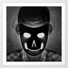 Drawlloween 2014: Mask Art Print