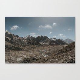 the glacier, nepal Canvas Print