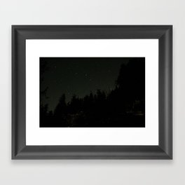 Nightscape at Orcas Island Framed Art Print
