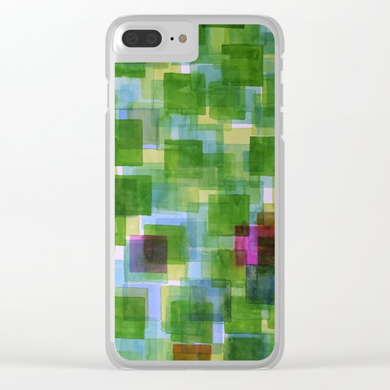 Pink and Orange Outposts Clear iPhone Case