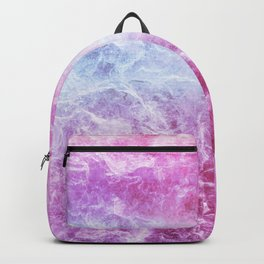 Enigmatic Pink Purple Blue Marble #1 #decor #art #society6 Backpack