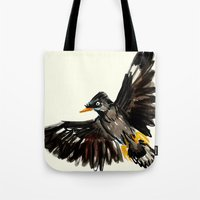 singapore Tote Bags featuring Singapore Bird by June Chang Studio