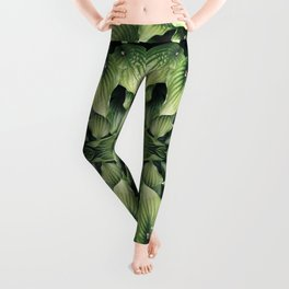 GREEN LEAVES REFLECTION Leggings