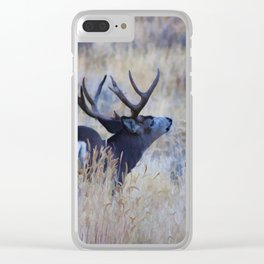 Black Tail Buck Clear iPhone Case