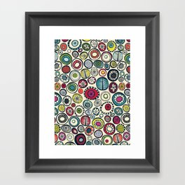 Honolulu hoops cream Framed Art Print
