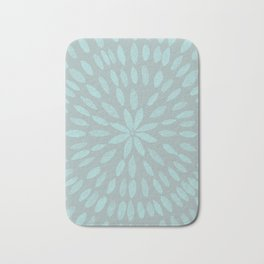 Mandala Flower #3 #mint #grey #drawing #decor #art #society6 Bath Mat