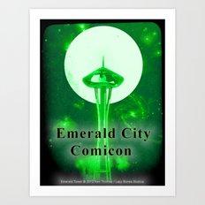 EMERALD CITY COMICON Art Print