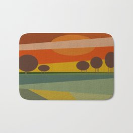 ABSTRACT SUNSET Bath Mat