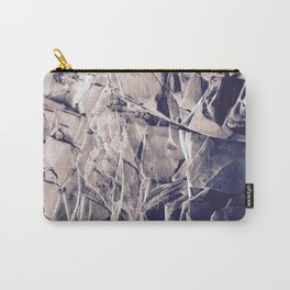 Cracked Rocks Purple Carry-All Pouch