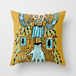 Drizzle City 2 Throw Pillow