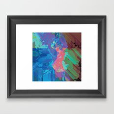 Glitchy 3 Framed Art Print