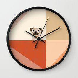 Little_PUG_LOVE_Minimalism_001 Wall Clock