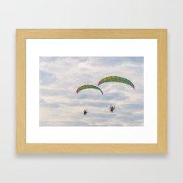 Tandem Paragliders Framed Art Print
