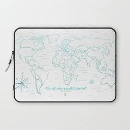 Where We've Been, World, Icy Blue Laptop Sleeve