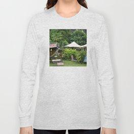 Fruit Stand in Tropical French Polynesia Long Sleeve T-shirt