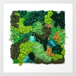 Moss Patch Art Print