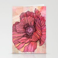 poppy Stationery Cards featuring Poppy by Annike
