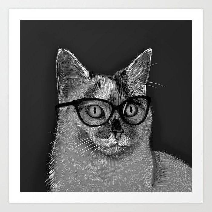 She's A Cool Cat Art Print