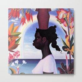 African American Masterpiece, The Joy of Living female portrait painting by Joseph Stella Metal Print