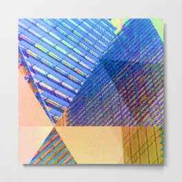 Geometric, Architectural Colorful Graphic Designs Metal Print