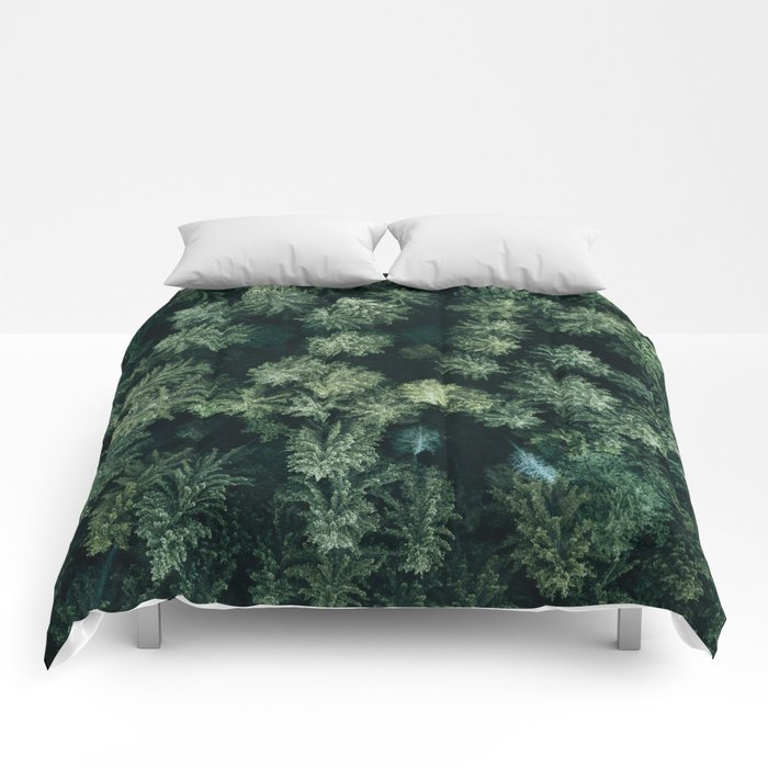 Forest from above - Landscape Photography Comforters