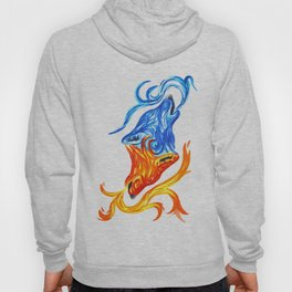 Fire and Water Wolves Hoody