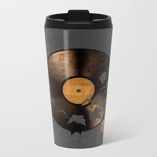 Autumn Song - colour option Metal Travel Mug