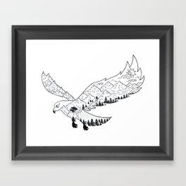 AfetMirzayeva Graphic Drawing Nature Birds Illustration Fantasy Framed Art Print