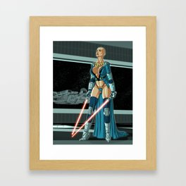 Star Wars: Double Red Framed Art Print