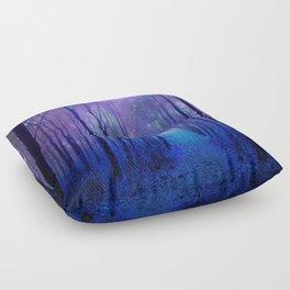 Fantasy Path Purple Blue Floor Pillow