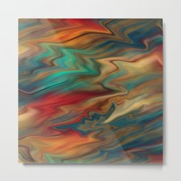 Colorful bright background with red turquoise and blue colours . Metal Print