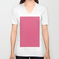 blush V-neck T-shirts featuring Blush by List of colors