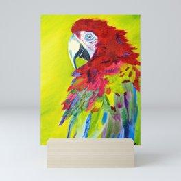 Fiery Feathers Scarlet Macaw Mini Art Print