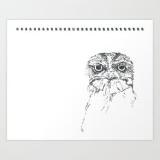 Grumpy Feathers Art Print