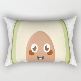 Kawaii Avocado copy Rectangular Pillow