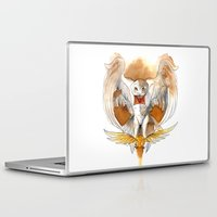hedwig Laptop & iPad Skins featuring Potter Hedwig Owl by Rubis Firenos