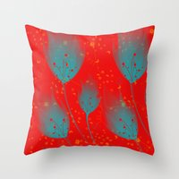 Nymphs' flowers Throw Pillow