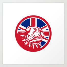 British Bulldog Head Union Jack Flag Icon Art Print