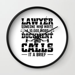 Lawyer Brief | Attorney Judge Law Profession Gifts Wall Clock