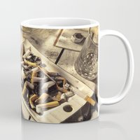 wallet Mugs featuring The day after a night out by Bruce Stanfield
