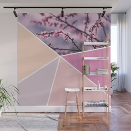 Soft Pastel Cherry Blossom Wall Mural