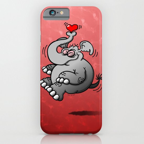 Fly me to the Moon Elephant iPhone & iPod Case