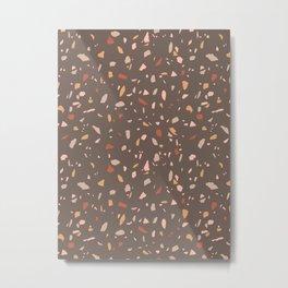 Earthy Colors Terrazzo Metal Print
