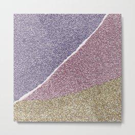 Glitter Paper Collage #4 Metal Print