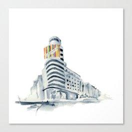 Edifidio Swcheppes, Gran Vía Canvas Print