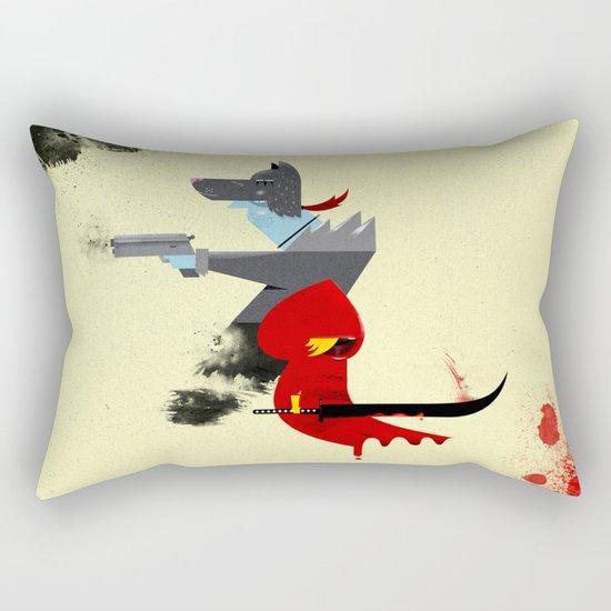 Red Hood & The Badass Wolf Redux Rectangular Pillow