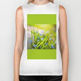 Scilla siberica flowerets named wood squill Biker Tank