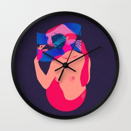 Waves of emotion Wall Clock