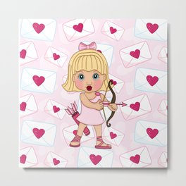 Valentine Cupid Metal Print